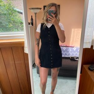 Topshop suede mini button up dress